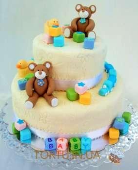 Торт з ведмедями