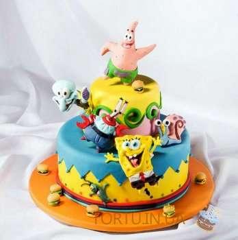 Спанч боб - торт для дитячого свята