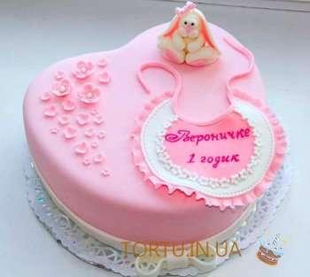 Розовий тортик для малечі
