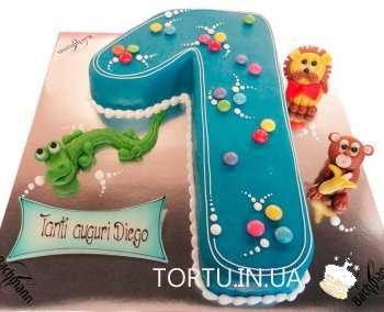 Торт у вигляді цифри 1