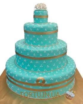 Ажурний торт з крапочок