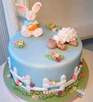 Торт з барашкою та кроликом