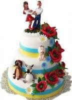Весільний торт в українському стилі
