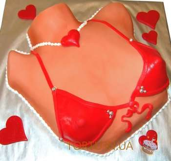 Еротичний торт - бюстгальтер
