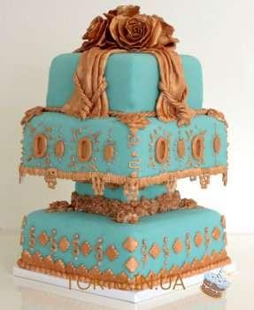 Ювійлейний торт з квітами
