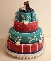 Стильний весільний торт