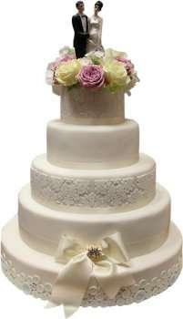 Шестиярусний весільний торт