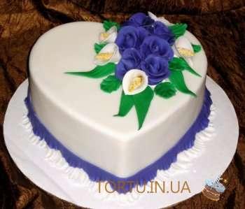 Торт - Квіткове серце