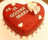 Торт - Серце з обручкою
