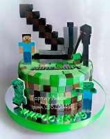 Торт Minecraft на замовлення