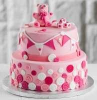 Рожевий торт для дівчаток на заказ