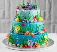 Морський дитячий торт