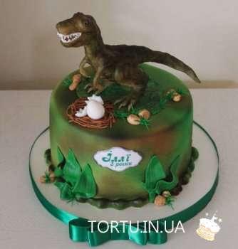 Торт з динозавром