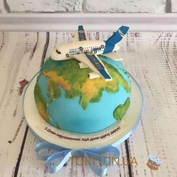 Торт з літаком