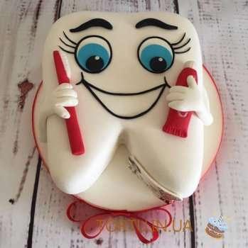 Торт зуб для стоматолога