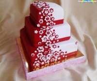 Червоно-білий торт