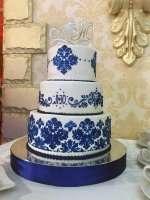 Весільний торт з візерунками
