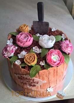 Торт - квітковий горшок