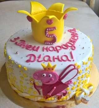 Жовтий торт з Пепою