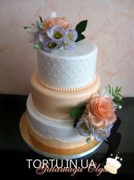 Ніжний помаранчевий торт