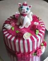 Торт з котиком для дівчаток