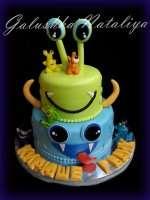 Двухярусный тортик монстр