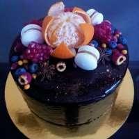 Торт без мастіки в шоколаді